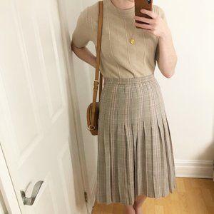 Vintage James Pringle Plaid Tartan Wool Skirt Kilt